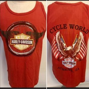 Harley Davidson 1990 Tank Top Mens L Cycle World